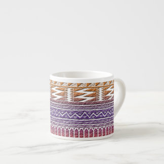 Orange Purple Ombre Geo Aztec Tribal Print Pattern Espresso Mug