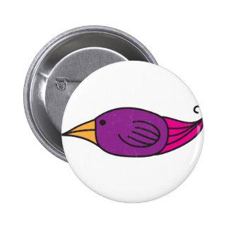 Orange, Purple, Pink Bird Button