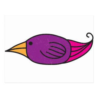 Orange, Purple, Pink Bird Postcard
