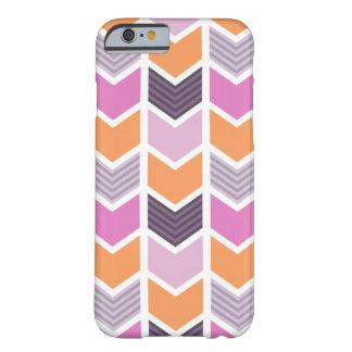 Orange Purple Pink Geometric Chevron Pattern Barely There iPhone 6 Case