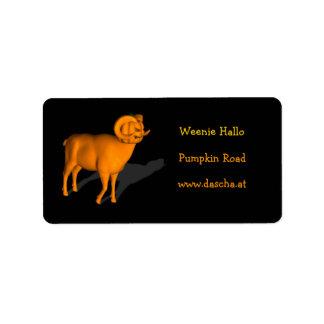 Orange Ram Label