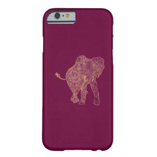 Orange/Raspberry Elephant iPhone 6 case Barely There iPhone 6 Case