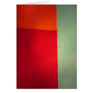 Orange Red Greeting Card