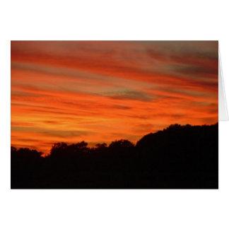 Orange & Red Clouds Greeting Card
