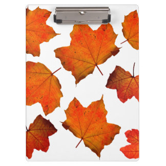 Orange/Red Fall Leaves Clipboard