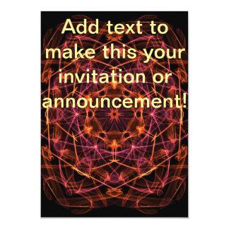Orange Red Kaleidoscope 13 Cm X 18 Cm Invitation Card