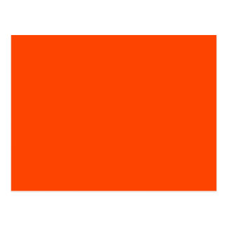 Orange Red Post Card