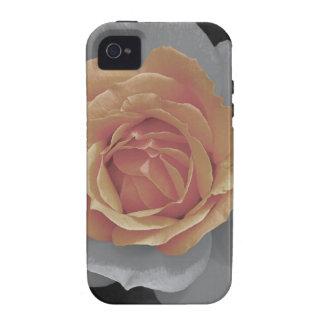 Orange rose blossoms print vibe iPhone 4 cases