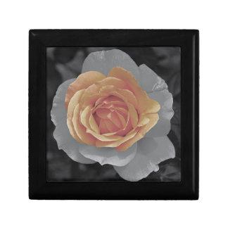 Orange rose blossoms print jewelry boxes