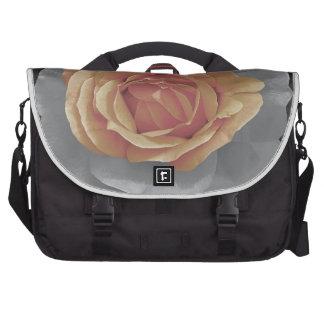 Orange rose blossoms print laptop messenger bag