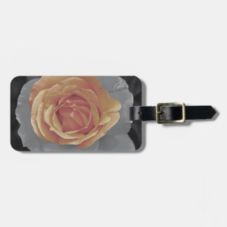 Orange rose blossoms print tags for bags