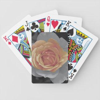 Orange rose blossoms print poker cards