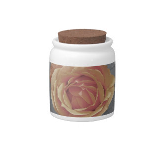 Orange rose blossoms print candy dishes