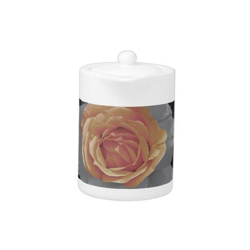 Orange rose blossoms print