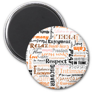 Orange Sacral Chakra Positive Affirmations Magnet