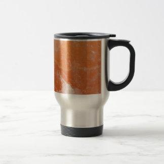 Orange salt stone stainless steel travel mug
