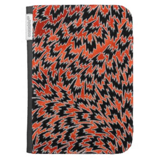 orange satin and black case for kindle