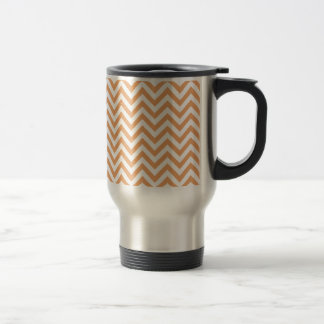 Orange Sherbert Chevron Travel Mug