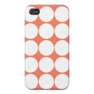 Orange Sky Polka Dot iPhone 4 Case