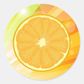 Orange Slice Citrus Fruit Round Sticker