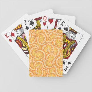 Orange Slice Playing Cards