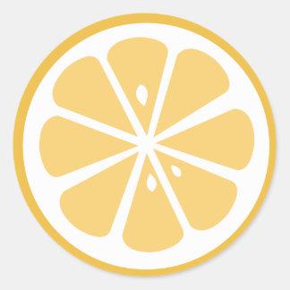 Orange Slice Round Sticker