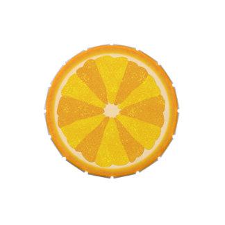 Orange Slice Summer Fruit Half Pop Art Candy Tin