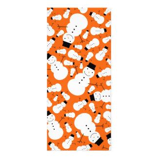 Orange snowmen full color rack card