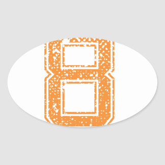 Number 08 Stickers | Zazzle.co.nz on