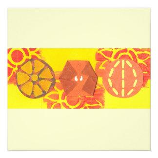 Orange Squash Dance Invitations