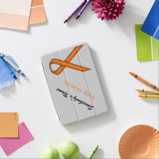Orange Standard Ribbon by Kenneth Yoncich iPad Mini Cover