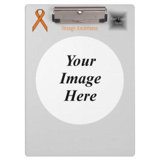 Orange Standard Ribbon Template Clipboard