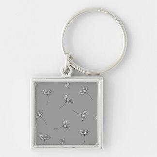 Orange Star Blossom Keychain - On Light Gray