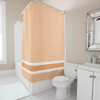 Orange Stripe Shower Curtain
