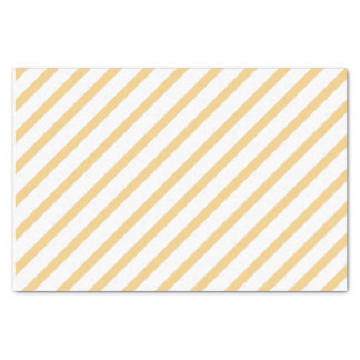 Orange Striped Tissue Paper