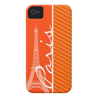 Orange Stripes; Paris iPhone 4 Case-Mate Cases