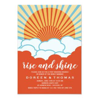Orange Sunrise Post Wedding Brunch Invitation