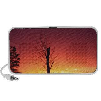 Orange sunset iPod speakers