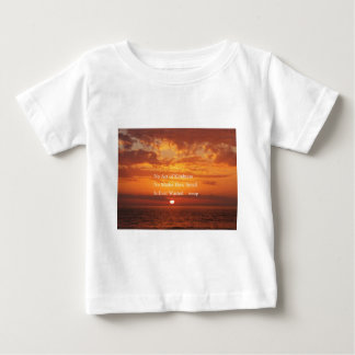 Orange Sunset Kindness quote Aesop Baby T-Shirt