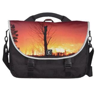 Orange sunset laptop commuter bag