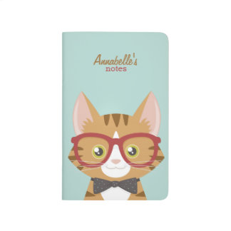 Orange Tabby Hipster Cat Journal