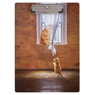 Orange tabby kitty cats clipboard
