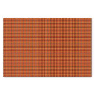 Orange Tartan Tissue Paper