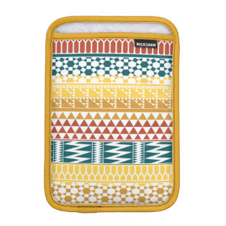 Orange Teal Geometric Aztec Tribal Print Pattern iPad Mini Sleeve