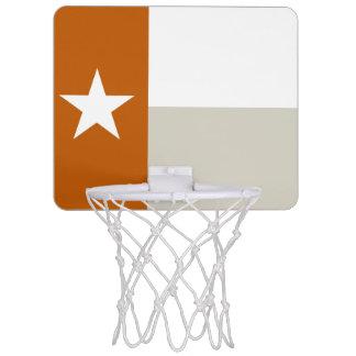 Orange Texas Flag Mini Basketball Hoop