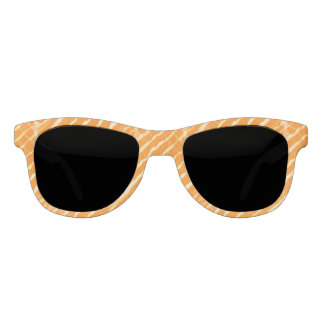 Orange Tiger Stripes Canvas Look Sunglasses