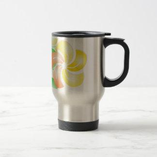 orange to flower rectangle gif coffee mug