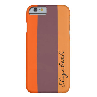 Orange Tones Stripes Background Barely There iPhone 6 Case