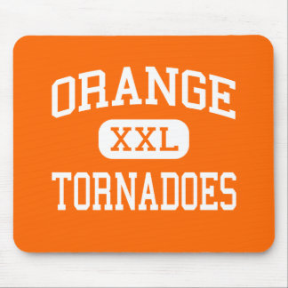 Orange - Tornadoes - High - Orange New Jersey Mouse Pad