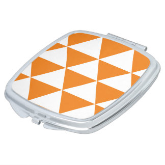 Orange Triangle Pattern Compact Mirrors